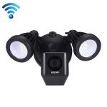 ESCAM QF608 HD 1080P WiFi Floodlight IP Camera, Support Night Vision / PIR Alarm / TF Card / Onvif(Black)