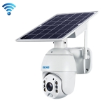 ESCAM QF280 HD 1080P IP66 Waterproof WiFi Solar Panel PT IP Camera with Battery, Support Night Vision / Motion Detection / TF Card / Two Way Audio (White)