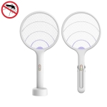2 PCS Xiaomi Qualitell Household Multi-functional Electric Mosquito Killer Fly Swatter (White)