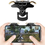 Taurus MK-1 Aluminum Alloy Adjustable Snap-type Four-finger Linkage Mechanical Press Shooting Game Handle for Mobile Phones within The Thickness of 6.5-10.5mm, Compatible with IOS & Android System