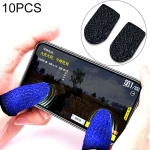 10 PCS Nylon + Conductive Fiber Non-slip Sweat-proof Mobile Phone Game Touch Screen Finger Cover for Thumb / Index Finger (Black)