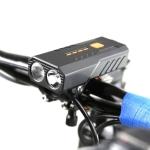 2 PCS USB Rechargeable Bicycle Front Light Bike FlashLight (White Light)
