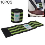 10 PCS Bicycle Widening Elastic Leg Bands Puttee Safety Belt