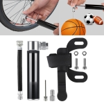 Manual Mini Portable Bicycle Aluminum Alloy Pump (Black)