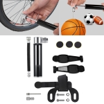 Manual Mini Portable Bicycle Aluminum Alloy Pump + Plastic glue-free tire patch + Tire lever (Black)