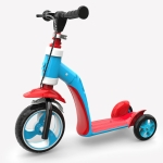 2 in 1 Children Multi-functional Three-wheeled Walker Scooter (Blue)