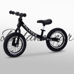Aluminum Alloy Children Balance Bike Without Pedal Three-wheeled Slide Toddler Bike (Black)