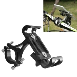 Universal Non-rotatable Aluminum Alloy Fixing Frame Motorcycle Bicycle Mobile Phone Holder (Black)