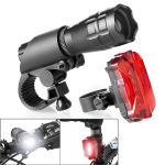 5W Mountain Bike Headlight USB Charging Zoom Glare Waterproof Flashlight Set Car Headlight + Taillight (Set One)