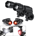 5W Mountain Bike Headlight Charging Zoom Glare Waterproof Flashlight Set Car Headlight x 2 + Taillight x 2 (Set Three)