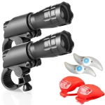 5W Mountain Bike Headlight Charging Zoom Glare Waterproof Flashlight Set (Set Four)