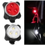 COB Lamp Bead 160LM USB Charging Four-speed Waterproof Bicycle Headlight / Taillight Set,  Red + White Light 650MA