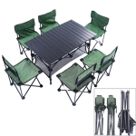 7 in 1 Outdoor Portable Folding Table Chair Set