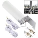4G LTE WiFi 12DBi Omni External Barrel Antenna with TS9 Male (White)