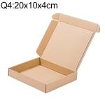 Kraft Paper Shipping Box Packaging Box, Size: Q4, 20x10x4cm