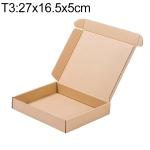 Kraft Paper Shipping Box Packaging Box, Size: T3, 27×16.5x5cm