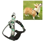1628 Medium and Large Dogs Leashes Dog Chest Straps Pet Supplies, Size: L(Green)