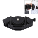PULUZ Capture Camera Clip CNC Aluminum Alloy Quick Release Clip with Plate (Black)