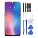 Original AMOLED Material LCD Screen and Digitizer Full Assembly with Frame for Xiaomi Mi 9 (Black)