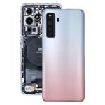 Original Battery Back Cover with Camera Lens Cover for Huawei P40 Lite 5G / Nova 7 SE(Silver)