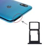 SIM Card Tray + SIM Card Tray / Micro SD Card Tray for Huawei P smart Pro 2019 (Black)