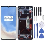 AMOLED Material LCD Screen and Digitizer Full Assembly with Frame for OnePlus 7T HD1901 HD1903 HD1900 HD1905(Baby Blue)
