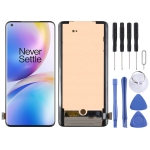 AMOLED Material LCD Screen and Digitizer Full Assembly for OnePlus 8 Pro(Black)