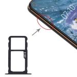 Original SIM Card Tray + SIM Card Tray / Micro SD Card Tray for Nokia X71 / TA-1172 TA-1167 TA-1188(Black)