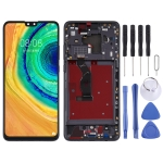 LCD Screen and Digitizer Full Assembly with Frame for Huawei Mate 30(Black)