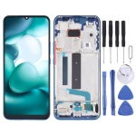 Original AMOLED Material LCD Screen and Digitizer Full Assembly with Frame for Xiaomi Mi 10 Lite 5G (Blue)
