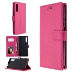 For Huawei P smart Pro 2019  Litchi Texture Horizontal Flip Leather Case with Holder & Card Slots & Wallet & Photo Frame(Rose)