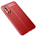 For VIVO V19 Litchi Texture TPU Shockproof Case(Red)