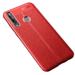 For Huawei Y6P Litchi Texture TPU Shockproof Case(Red)