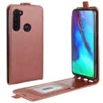 For Motorola Moto G Stylus R64 Texture Single Vertical Flip Leather Protective Case with Card Slots & Photo Frame(Brown)