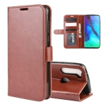 For Motorola Moto G Stylus R64 Texture Single Horizontal Flip Protective Case with Holder & Card Slots & Wallet& Photo Frame(Brown)
