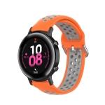 22mm For Huawei Watch GT2e/GT/GT2 46MM Fashion Inner Buckle Silicone Strap(Orange grey)