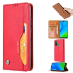 For Huawei P Smart 2020 Knead Skin Texture Horizontal Flip Leather Case , with Photo Frame & Holder & Card Slots & Wallet(Red)