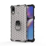 For Huawei Y7 2019 /  Y7 Prime Shockproof Honeycomb PC + TPU Ring Holder Protection Case(White)