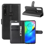 For Motorola Moto G Power Litchi Texture Horizontal Flip Protective Case with Holder & Card Slots & Wallet(Black)