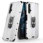 For Huawei Honor 20 Shockproof PC + TPU Case with Ring Holder(Silver)