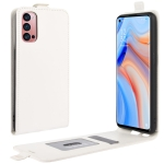 For OPPO Reno 4 Pro 5G R64 Texture Single Vertical Flip Leather Protective Case with Card Slots & Photo Frame(White)