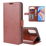 For OPPO Reno 4 5G R64 Texture Single Horizontal Flip Protective Case with Holder & Card Slots & Wallet& Photo Frame(Brown)