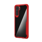 For Huawei Nove 7 SE Transparent PC + TPU Full Coverage Shockproof Protective Case(Red)