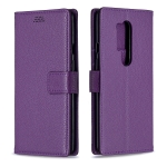 For OnePlus 8 Pro Litchi Texture Horizontal Flip Leather Case with Holder & Card Slots & Wallet & Photo Frame(Purple)