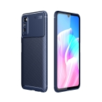 For Huawei Enjoy Z 5G Carbon Fiber Texture Shockproof TPU Case(Blue)