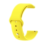 22mm For Huawei Watch GT2e GT2 46mm Monochrome Silicone Reverse Buckle Strap(Yellow)