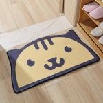 Half-round Shape Floor Mats Anti-skid Water-absorbing Floor Mats at Home, Size:50×80 cm(Cat)