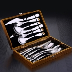 SSGP Stainless Steel Western Tableware Set Steak Knife Fork Spoon Set, Specification:12 PCS Set for Four