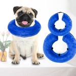 Dog Collar PVC Inflatable Pet Anti-snatch Collar, Size:XS(Blue)