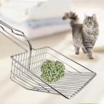 Pet Cat Litter Scoop Filter Cat Litter Cat Feces Cleaning Tool(Silver)